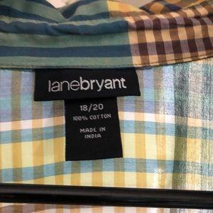 Lightweight cotton blend blouse.